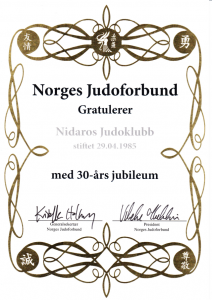 Gratulasjon for 30-års jubileum-Medium